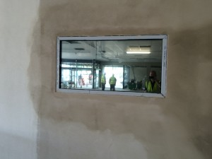 Silver 20 applied to internal office window. In the correct light environment this can produce a 'one-way' mirror.